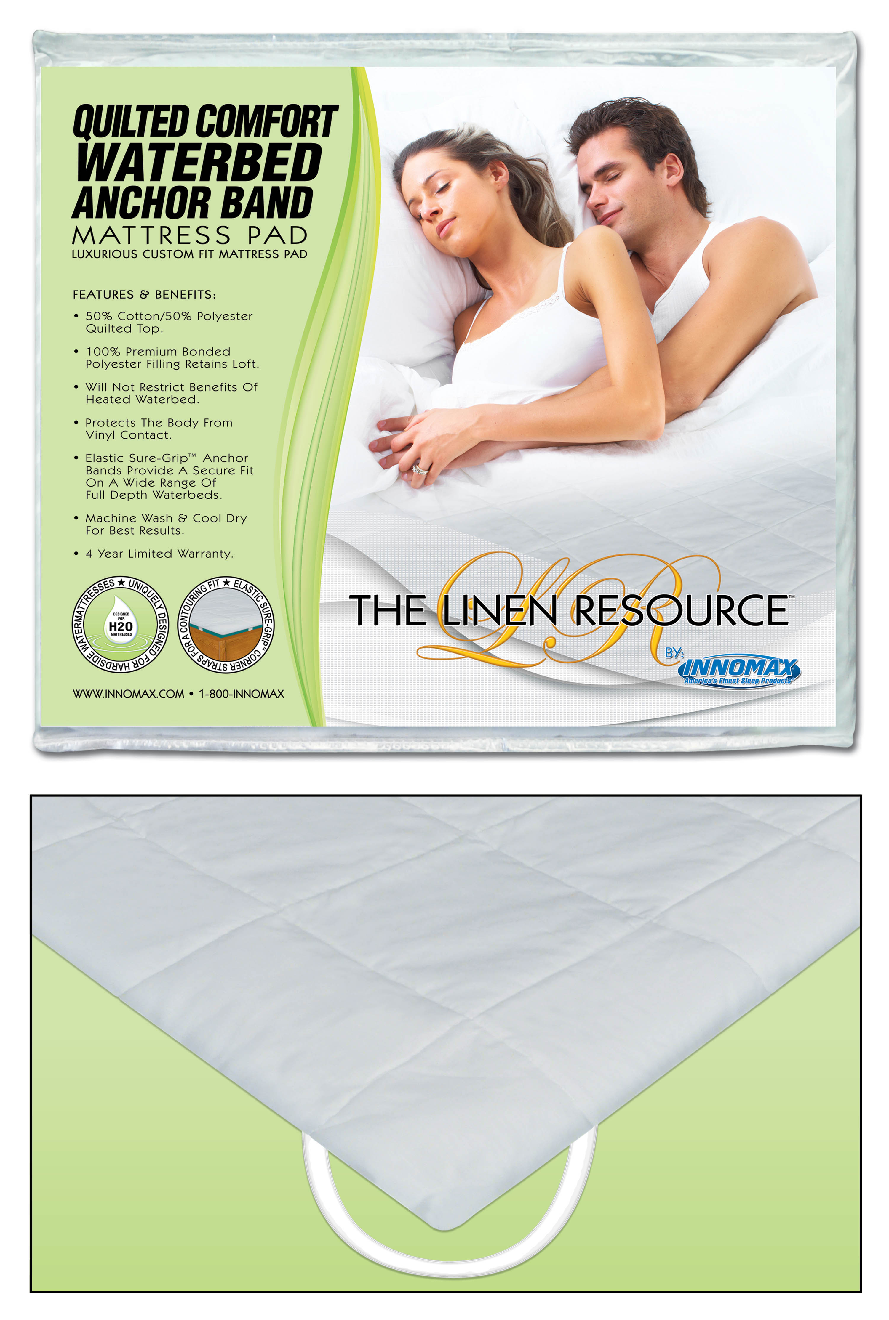 mattress resource anchor band product pad linen fit comfort waterbed custom quilted the